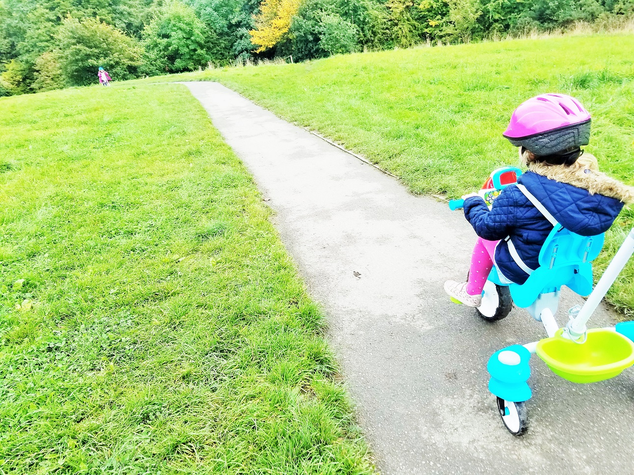 VTech trike on a long path