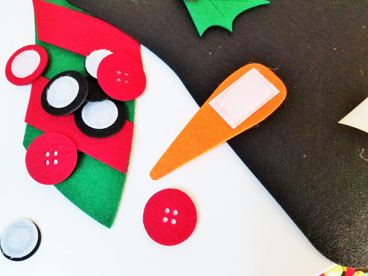 Felt Christmas Decorations Felt Snowman Pieces with Velcro on