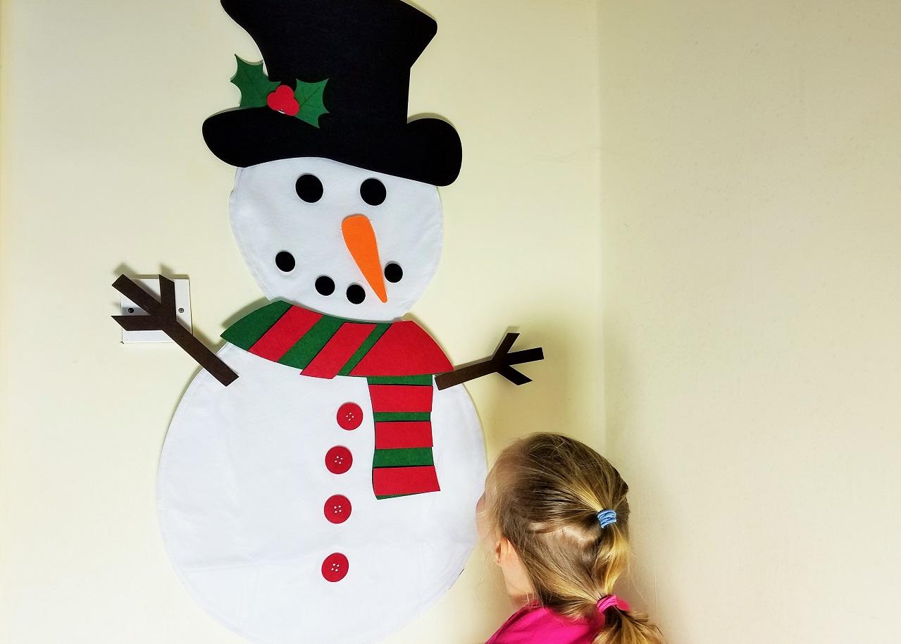 Felt Christmas Decorations 3ft 3 foot snowman