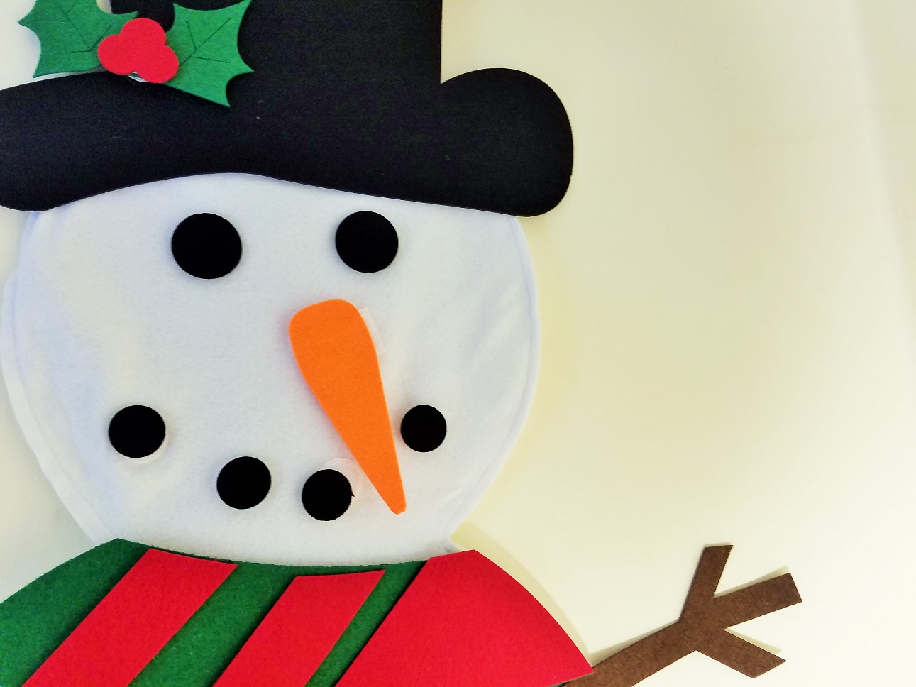 Felt Christmas Decorations Felt Snowman Face