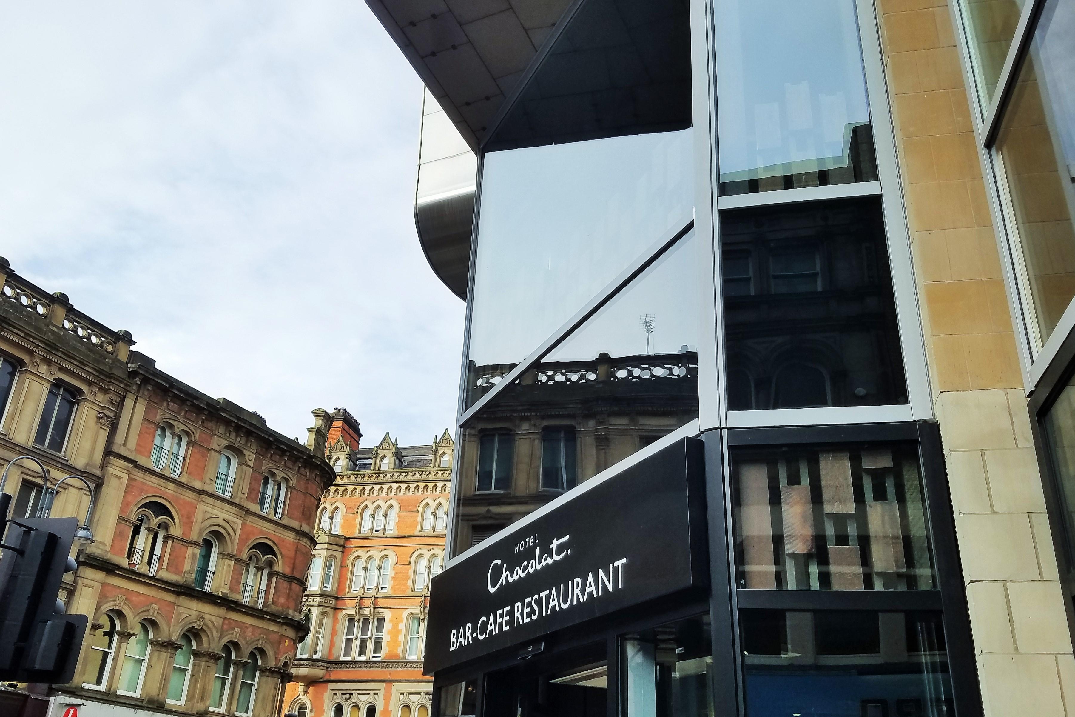 Hotel Chocolat shop front Leeds