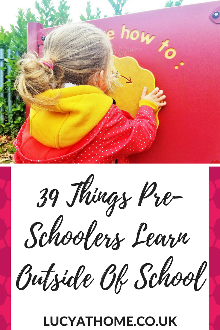 39 Things Pre-Schoolers Learn Outside Of School - toddlers learn so much from just being at home and having a role in the family - an internal map of the area, how to hang the washing out, what it feels like to be in a wide open space. Check out this post for loads of things kids learn at home in a home classroom - homeschooling
