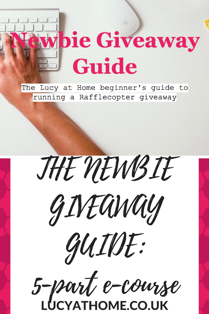 Newbie Giveaway Guide - 5 part e-course how to run a giveaway blog