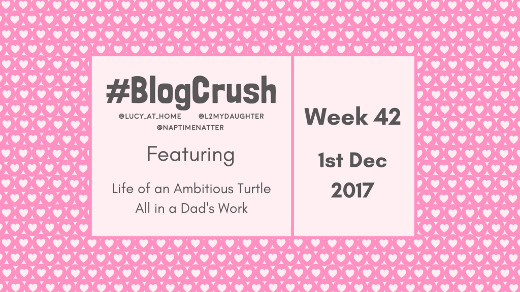 BlogCrush Week 42 – 1st December 2017