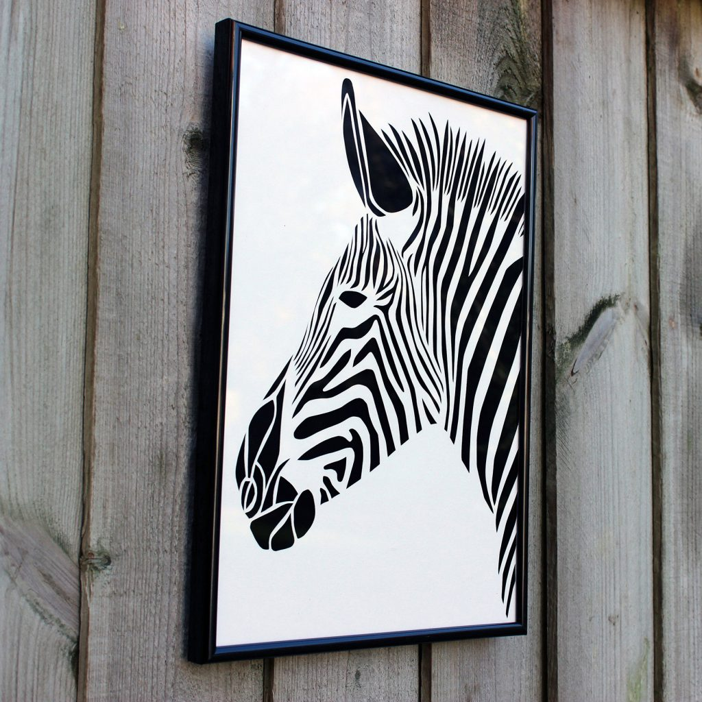 Walter & May A4 Zebra Cut Out Picture Christmas Gift Guide
