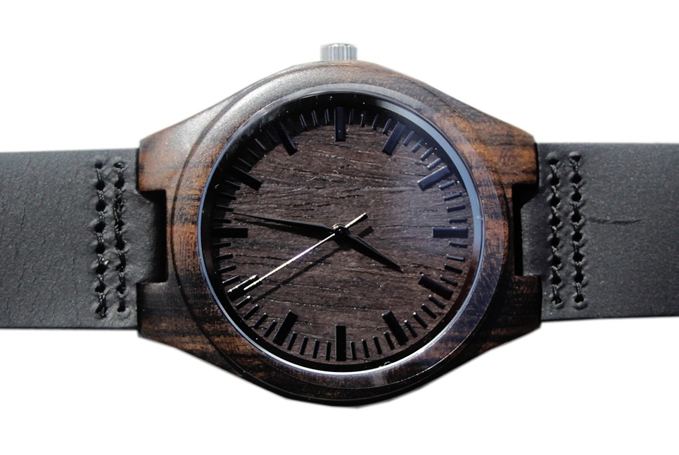 Stylish Gift Ideas For Men Wooden Watch Etch'd Walnut Suede Leather