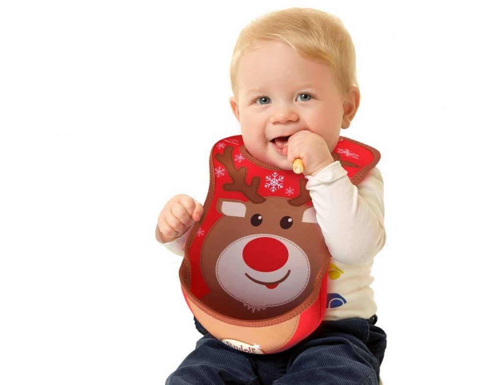 Creative Kids Gift Guide Rudolph Christmas Machine Washable Fabric Bib