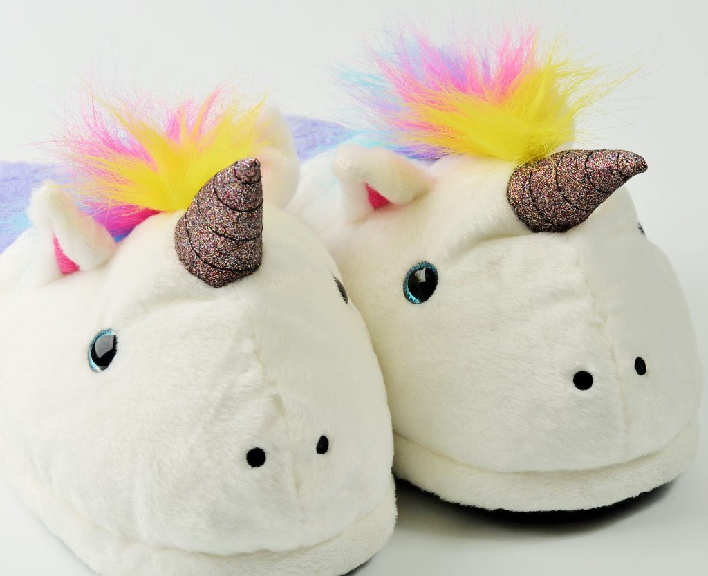 Gift Guide For Her Hard-Working Women Unicorn Slippers Rainbow Mane