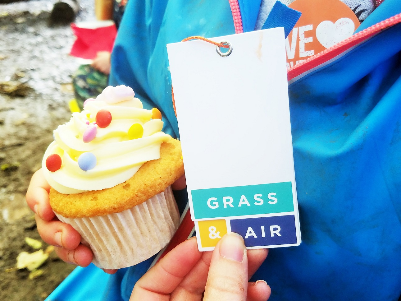 Grass & Air colourful cupcake