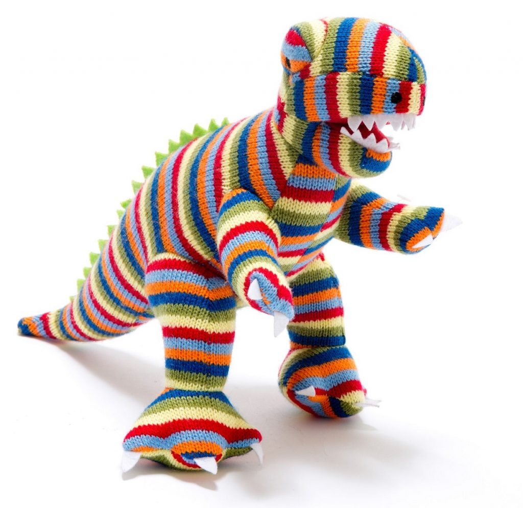 Creative Kids Gift Guide stripy t-rex dinosaur soft toy