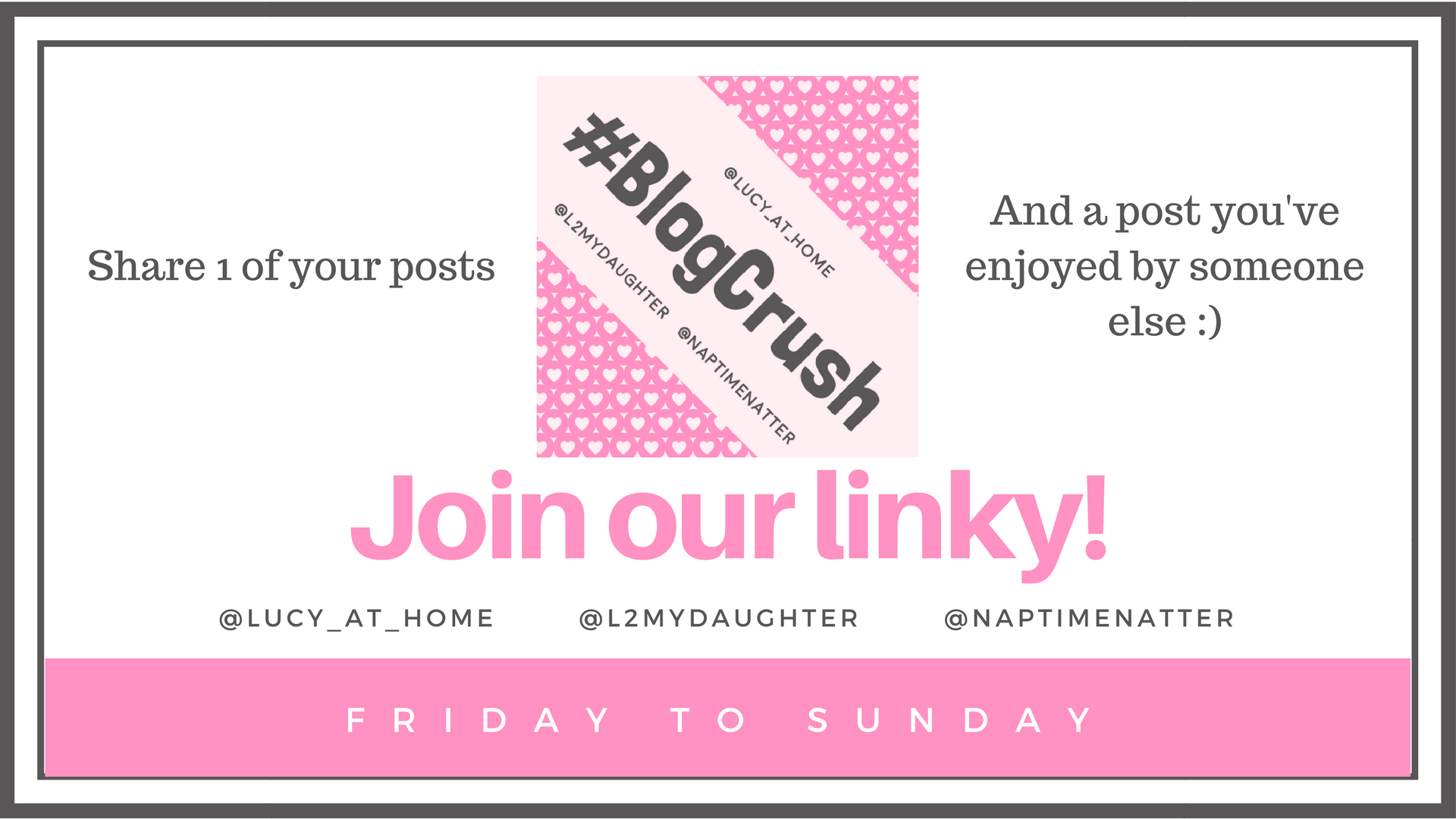 Blog Crush linky concept BlogCrush Week 65