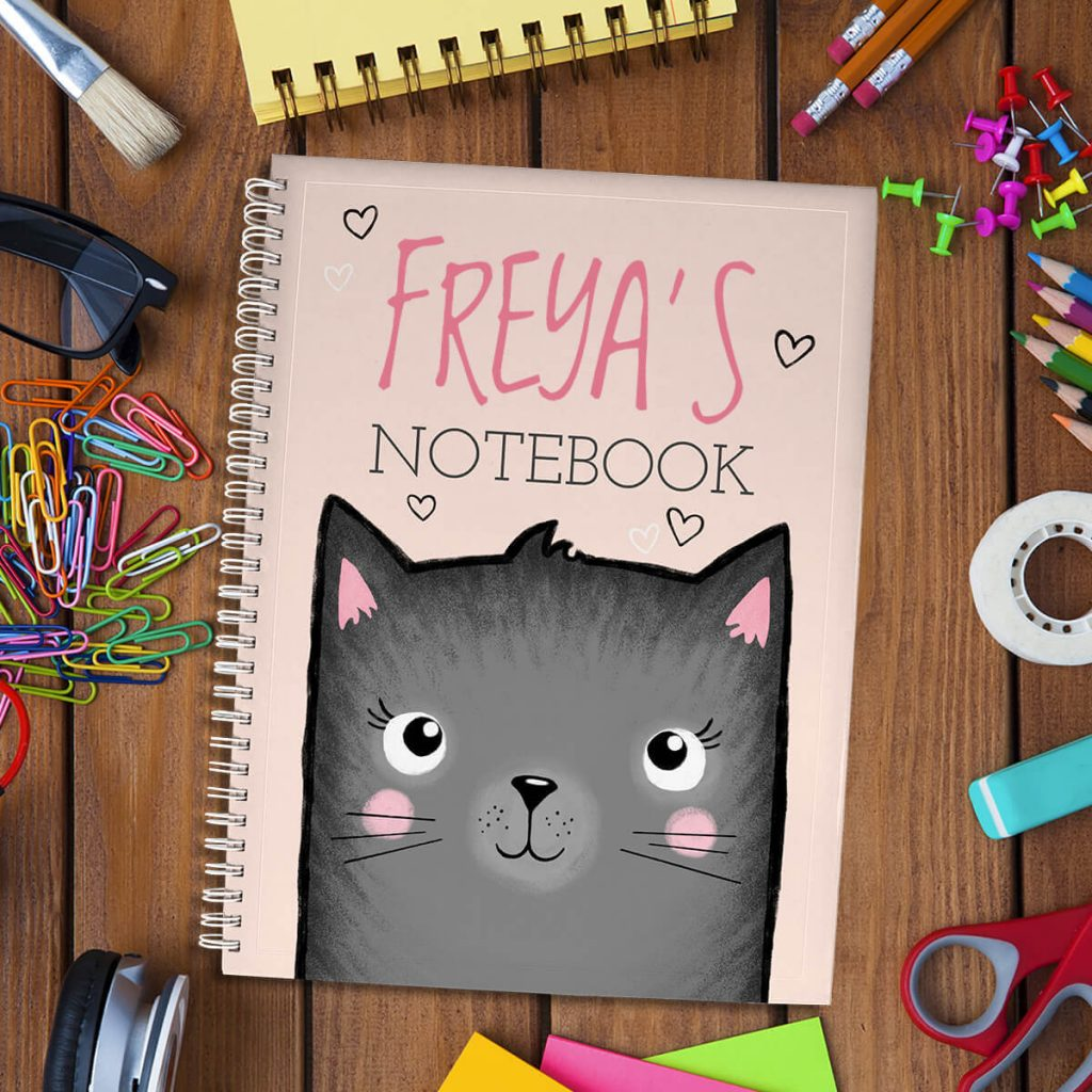 Creative Kids Gift Guide kitty loveheart notebook