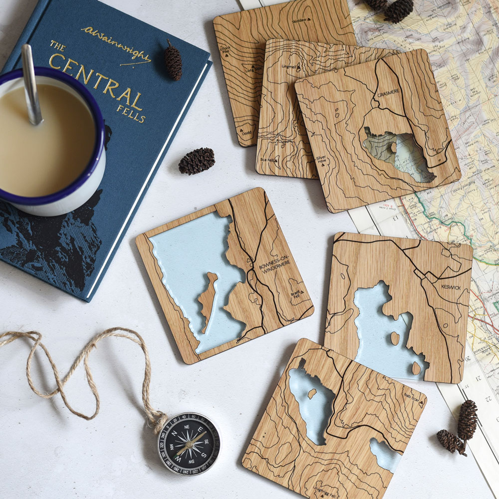 Walter & May Lake District Coasters Handmade