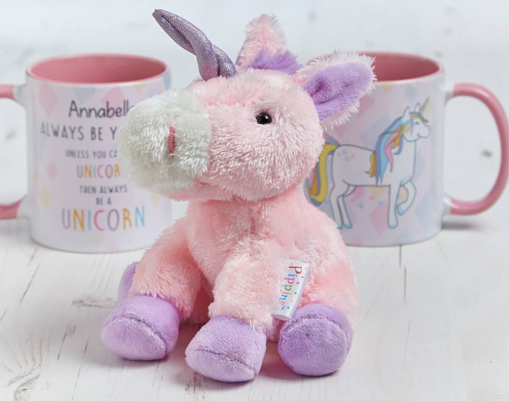Creative Kids Gift Guide unicorn mug and toy