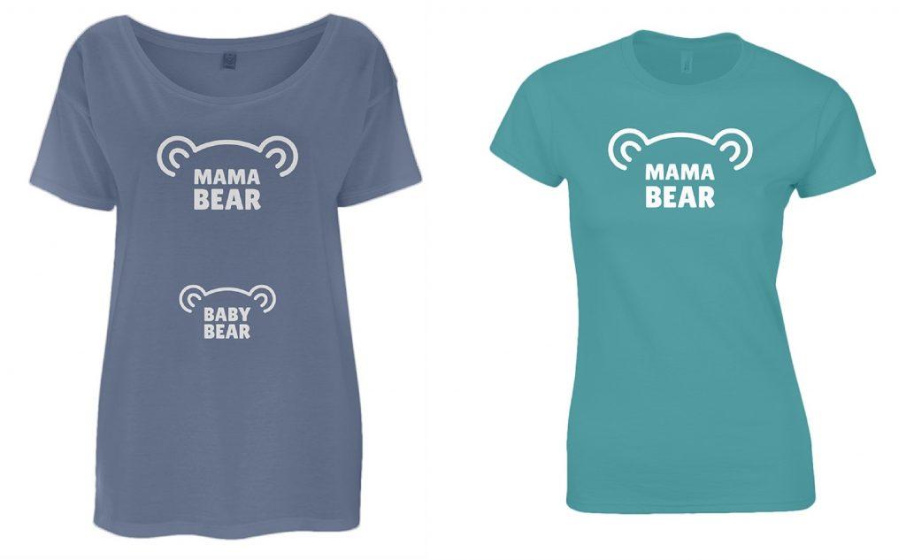 Gift Guide For Her Hard-Working Women Mama Bear T-Shirt Mum Tee Baby Bear Maternity