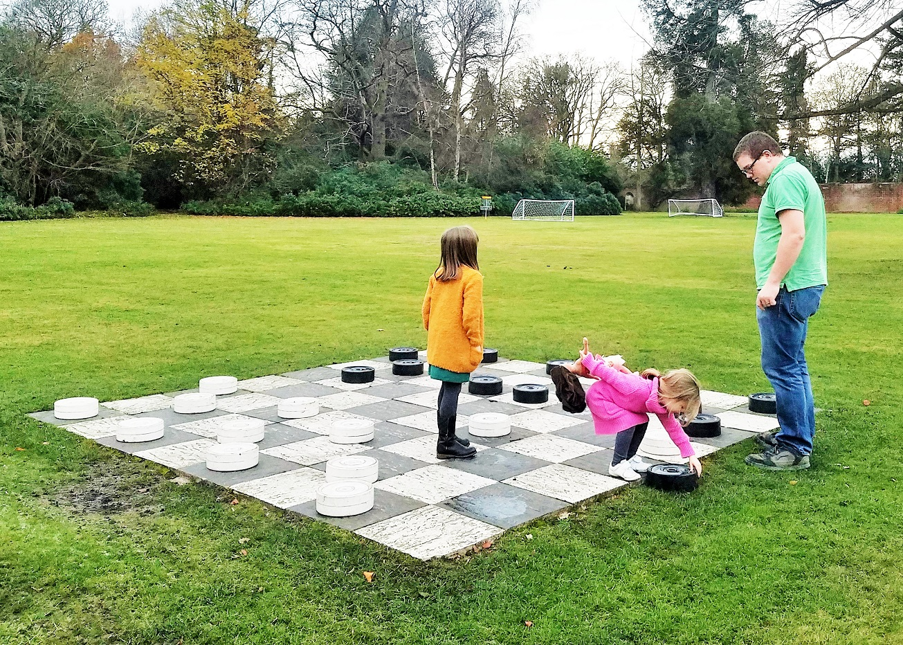 Royal Berkshire Hotel Lapland UK Giant Draughts or Checkers