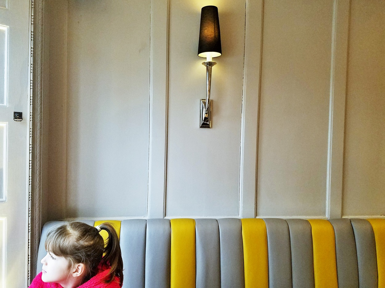 Royal Berkshire Hotel Grey and Yellow Booth