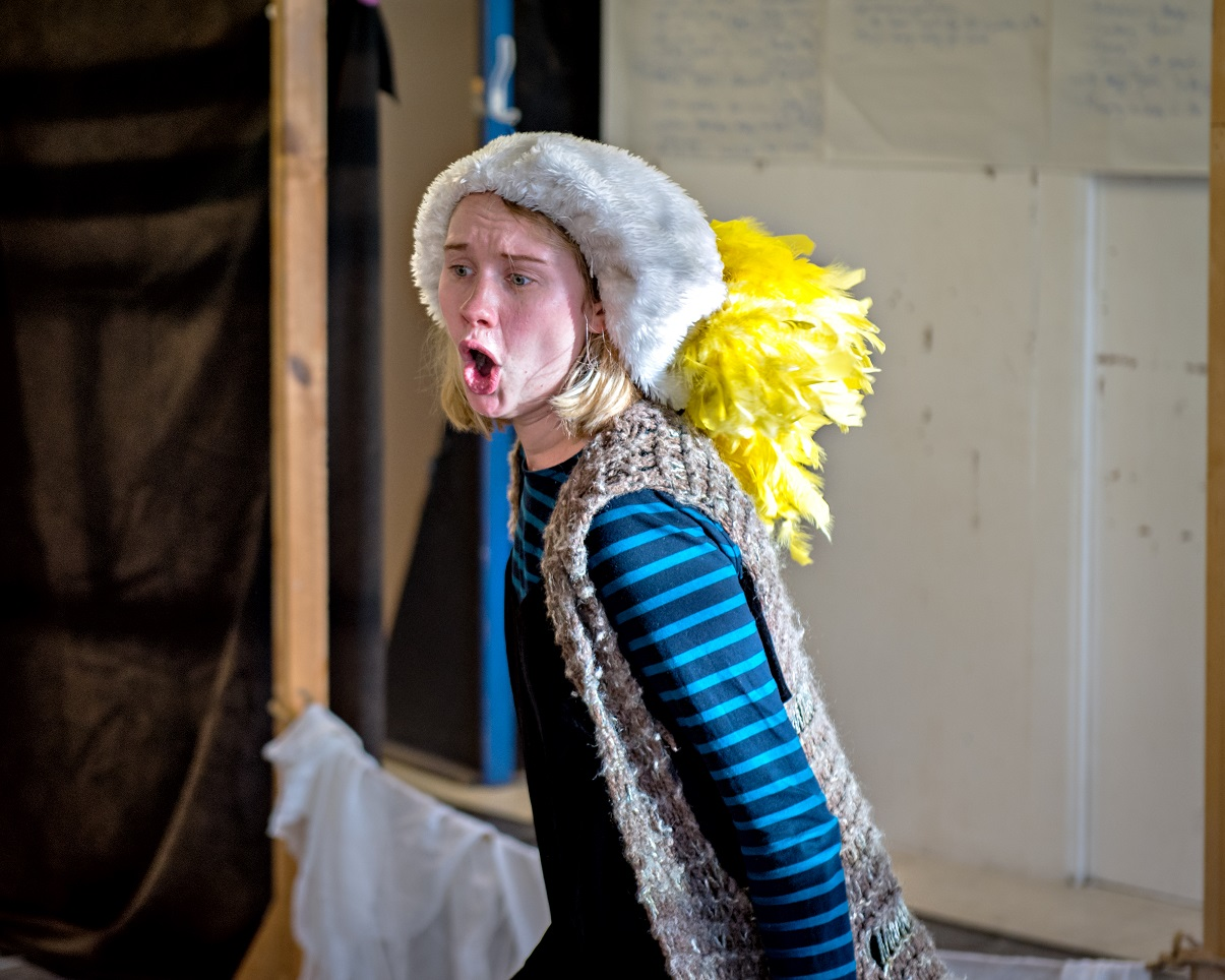 Lucy Bairstow in Crumble's Search for Christmas. Photography by Anthony Robling
