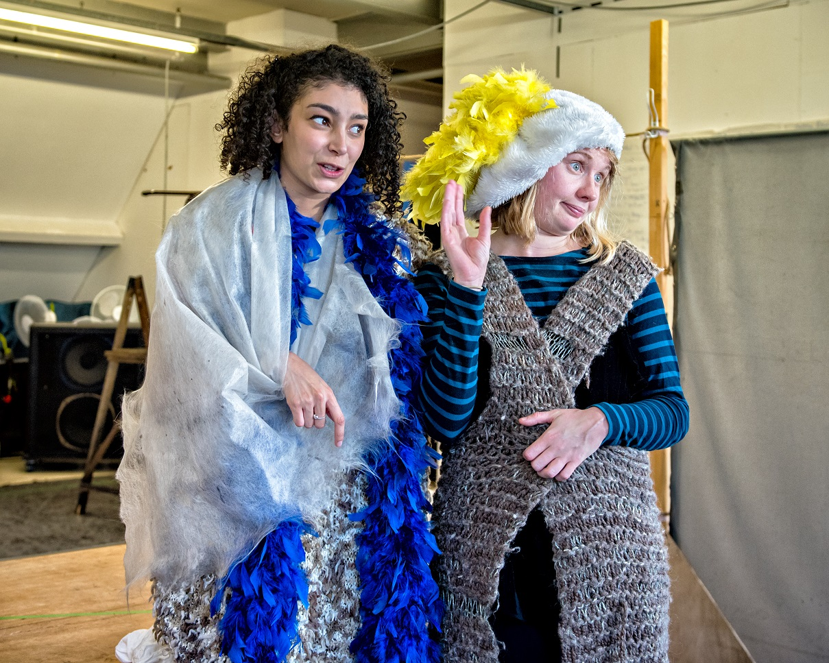 Riana Duce and Lucy Bairstow in Crumble's Search for Christmas. Photography by Anthony Robling
