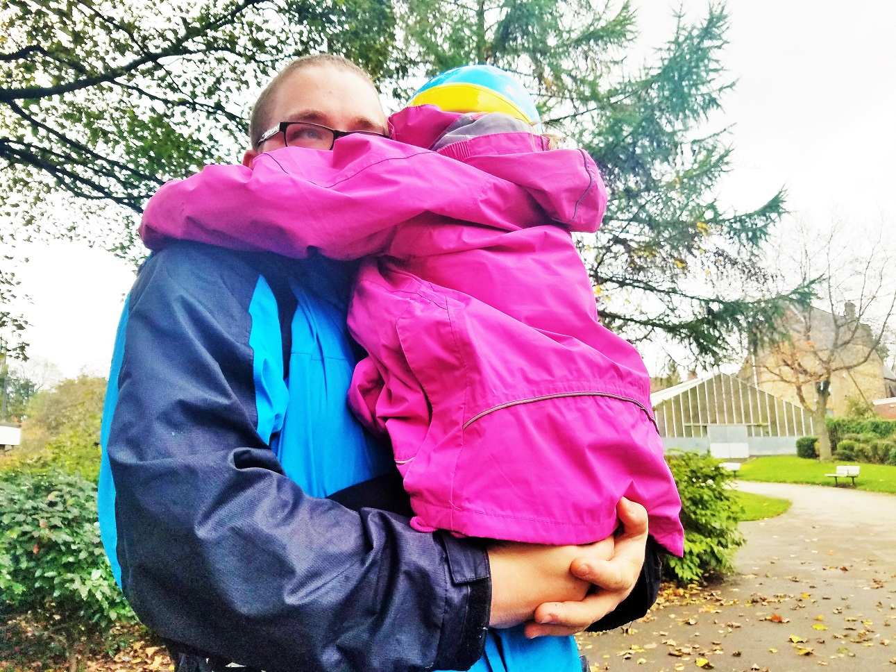 "Sometimes you just have to say ""we're going home"" to get your message across - young girl being carried by her daddy"