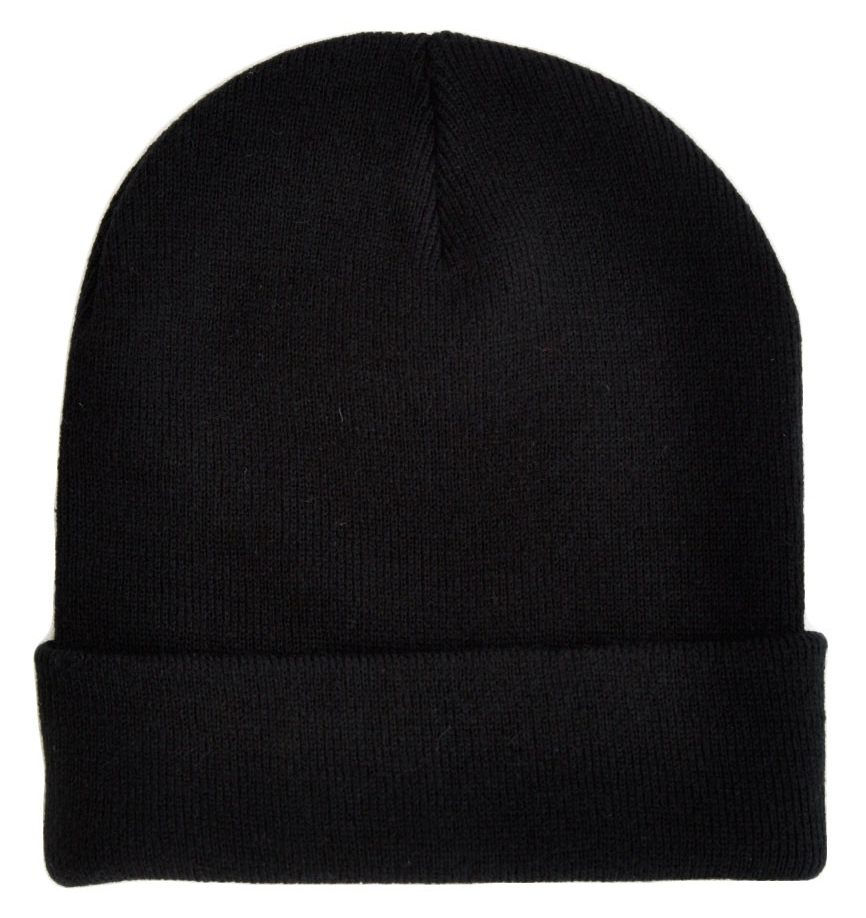 The Idle Man Black Beanie Hat Cuffed