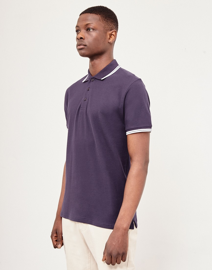 The Idle Man Short Sleeve Navy Polo Shirt
