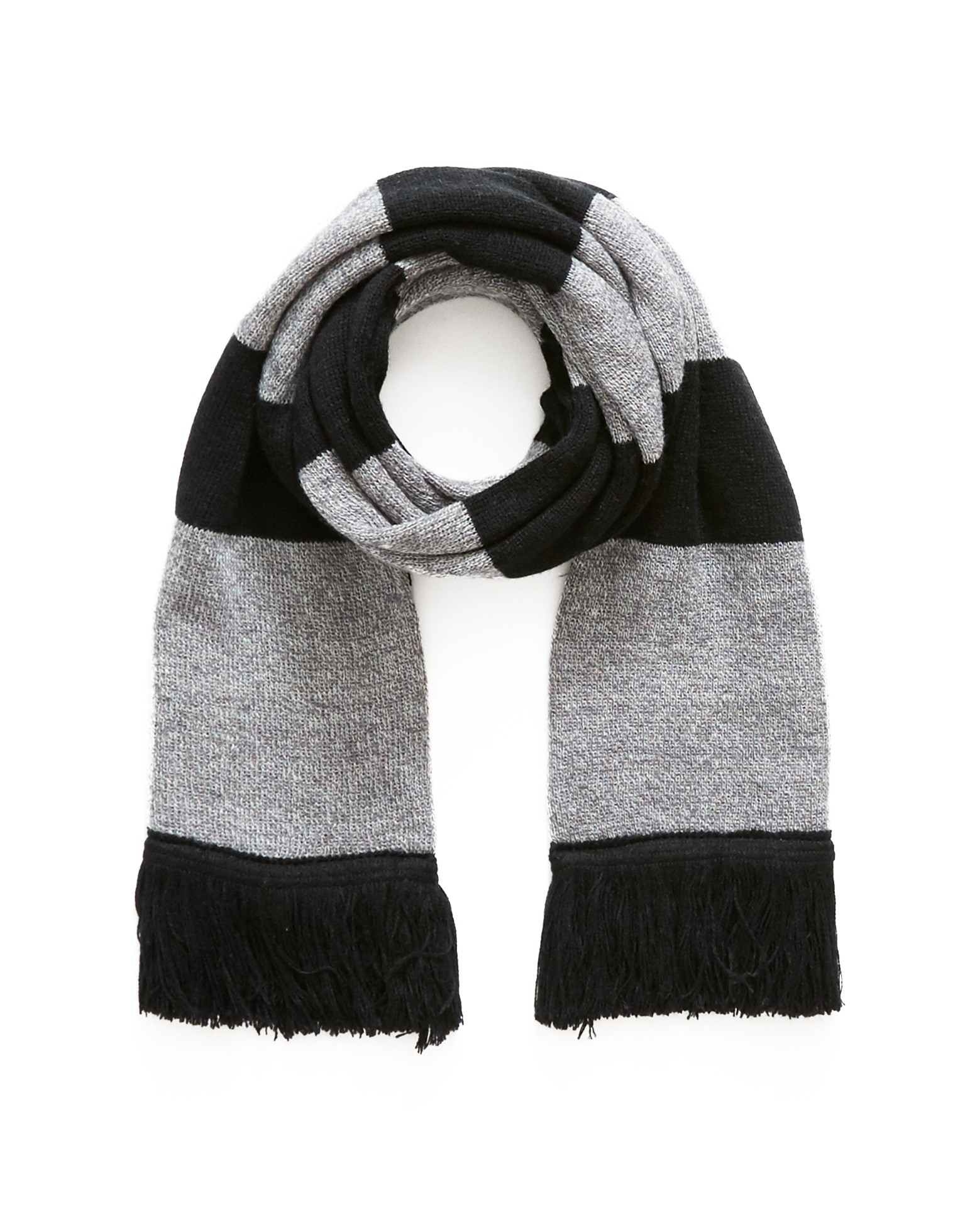 The Idle Man Grey Black Varsity Scarf