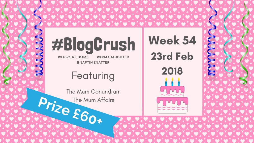 BlogCrush Week 54 – 23rd February 2018