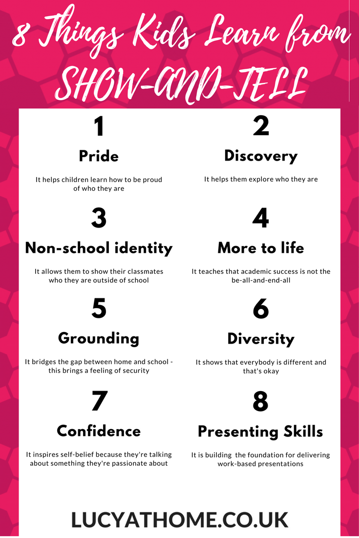 8 Things Kids Learn from SHOW-AND-TELL - self esteem tips, love school, primary school activities, childhood mental health