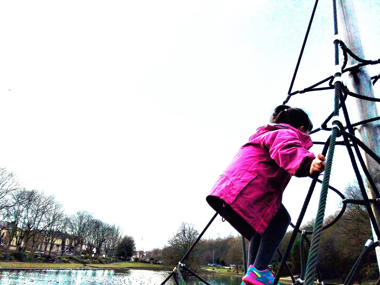 When your child's anxiety trigger is her class teacher- child on climbing frame