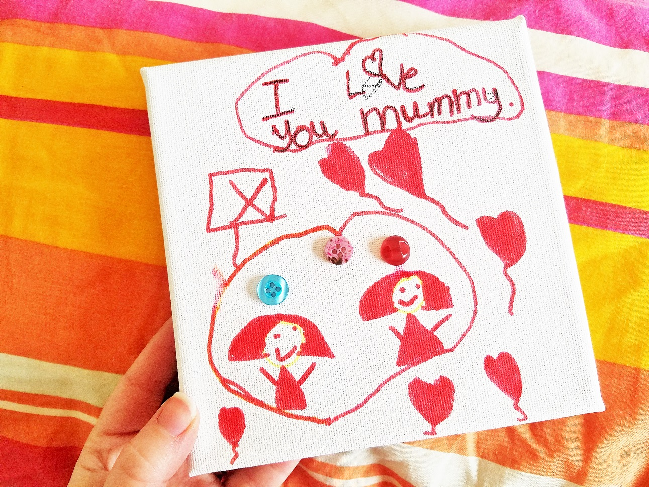 stay at home mummy need a break - child's drawing of herself and her mummy