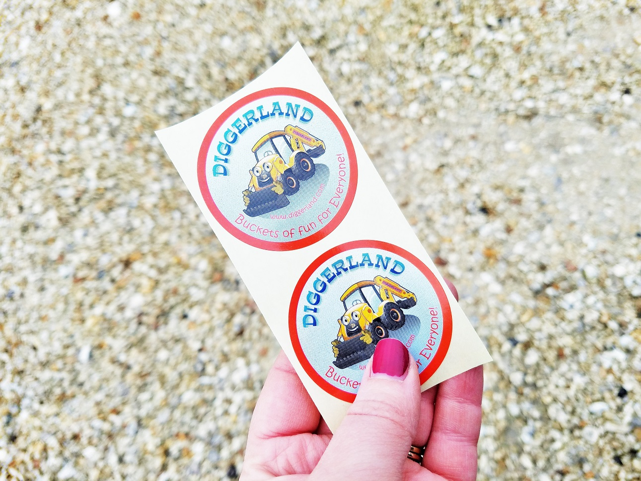 Diggerland in the rain - diggerland stickers