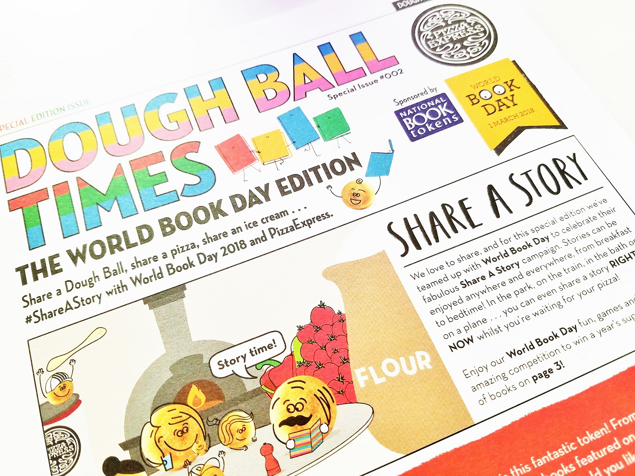 Dough Ball Times World Book Day Edition at Pizza Express - storytelling is fun