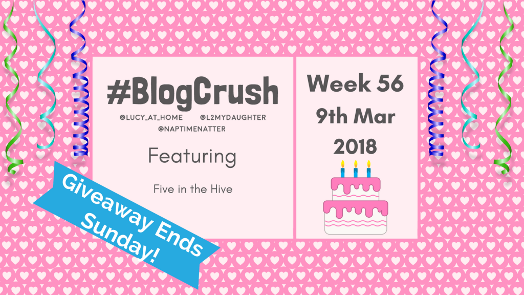 BlogCrush Week 56 – 9th March 2018