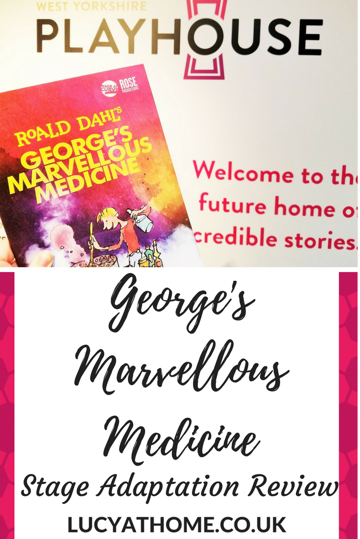 George's Marvellous Medicine Stage Production at West Yorkshire Playhouse - theatre for kids theatre reviews