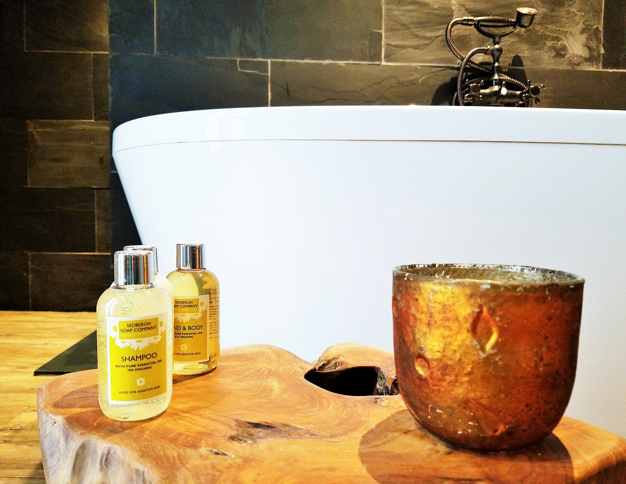 Luxury bathroom - glamping at North Star Club in Yorkshire