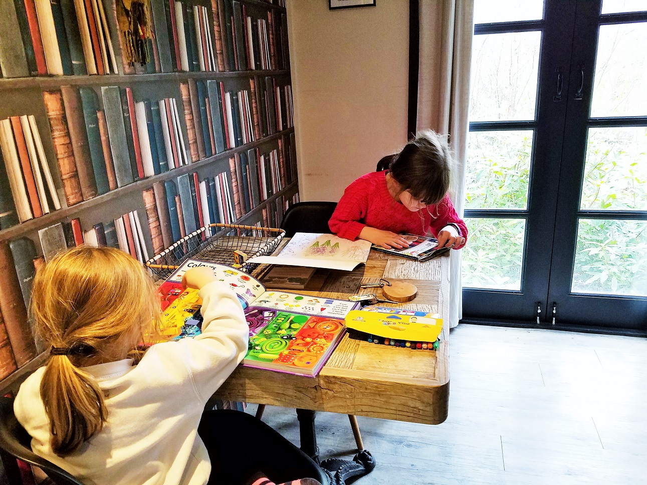 Children sat at a table colouring in - family friendly glamping near Beverley - North Star Club