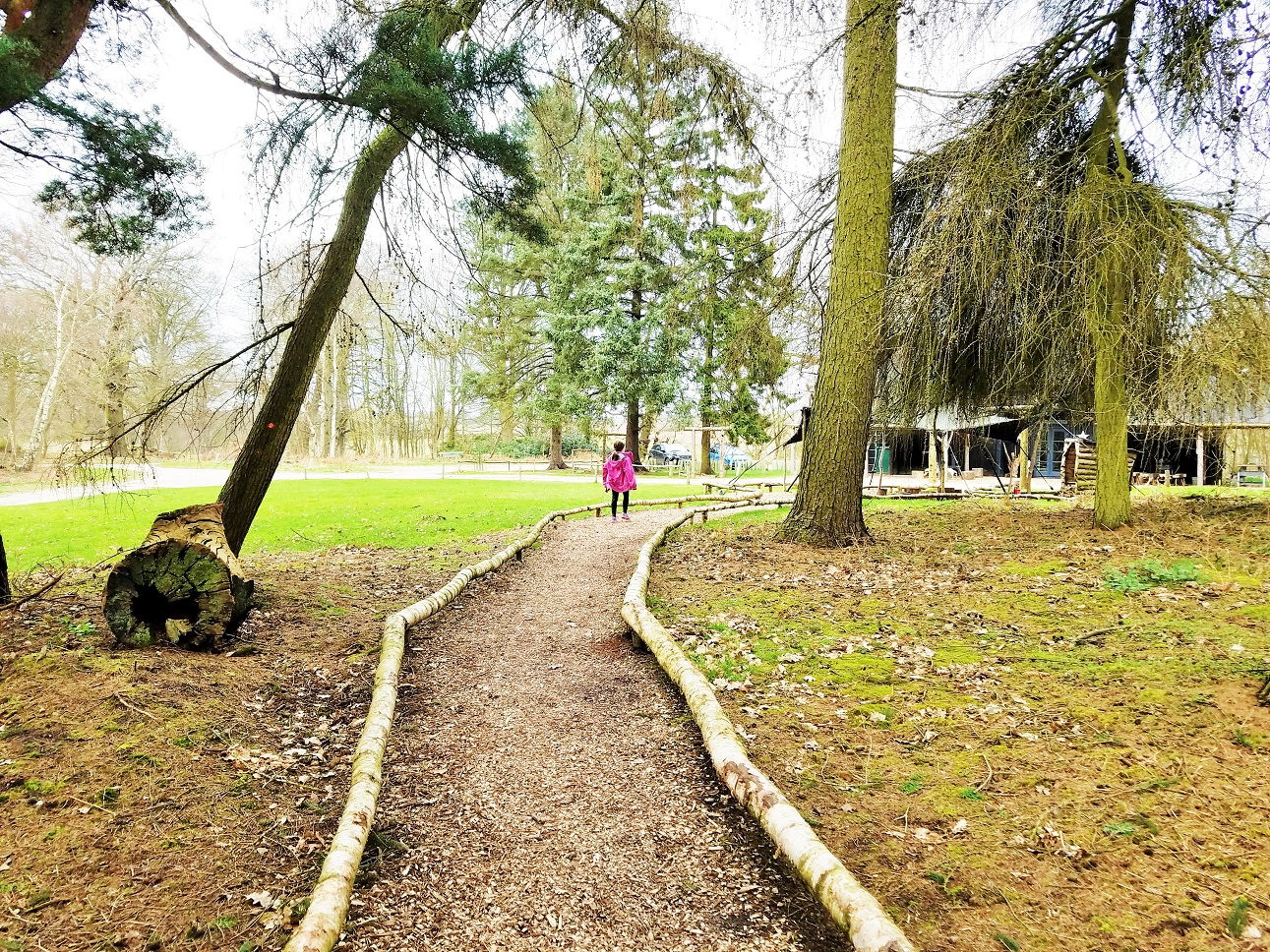 Woodland paths around North Star Club glamping site