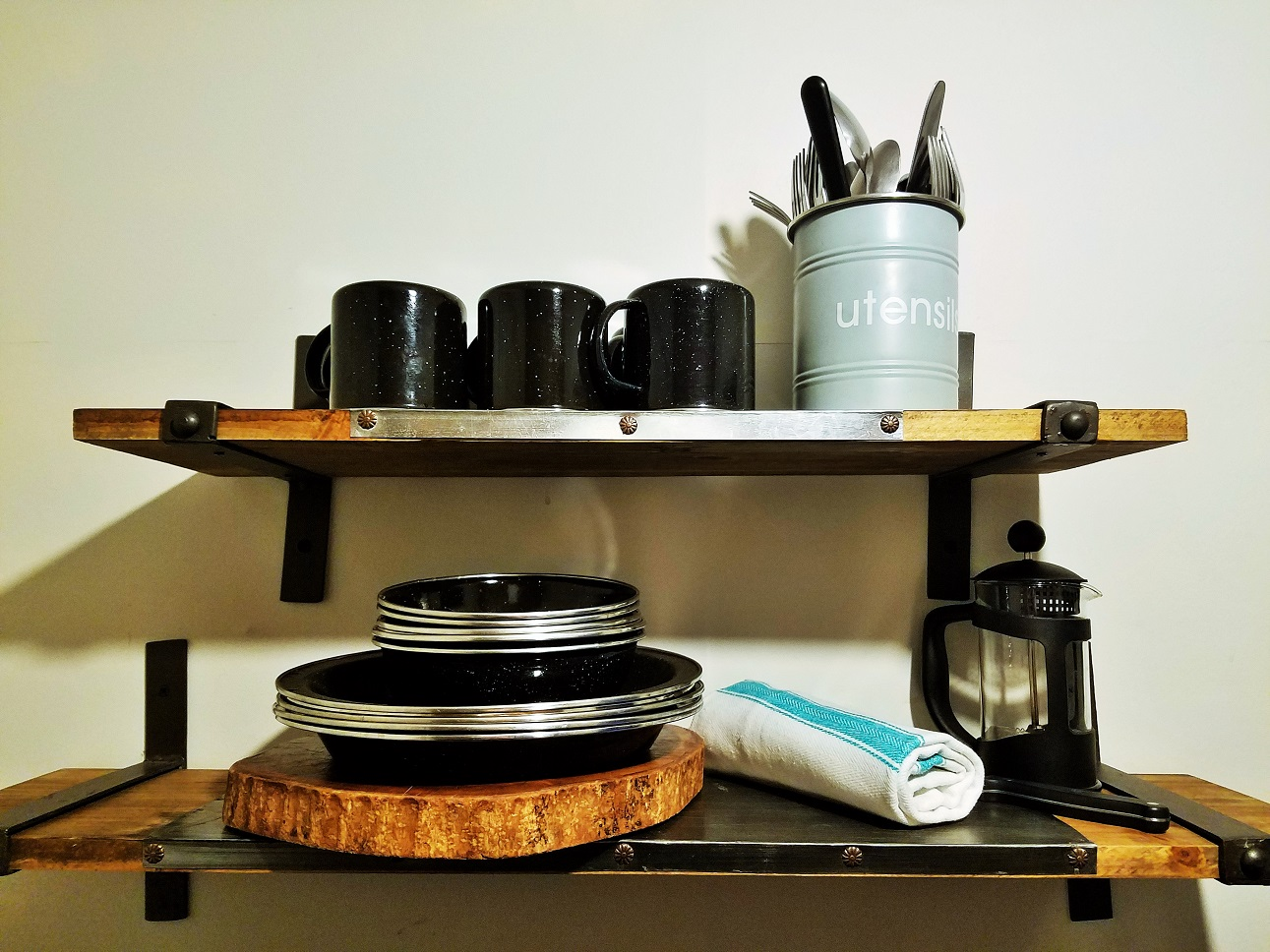 North Star Club utensils in the utility room