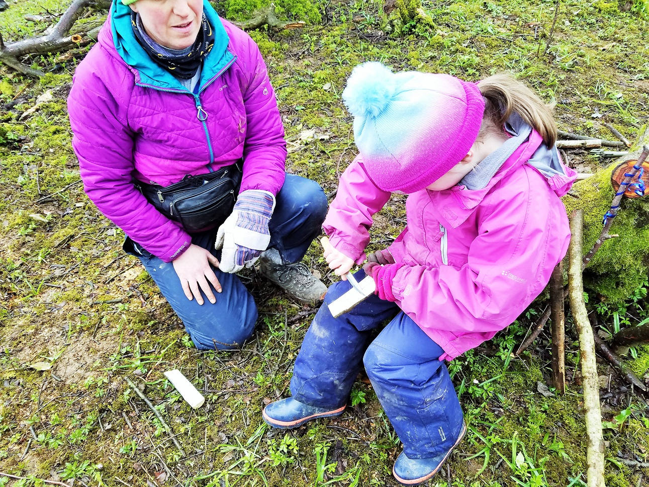 Whittling wood to make a kazoo - Yorkshire Dales Forest School