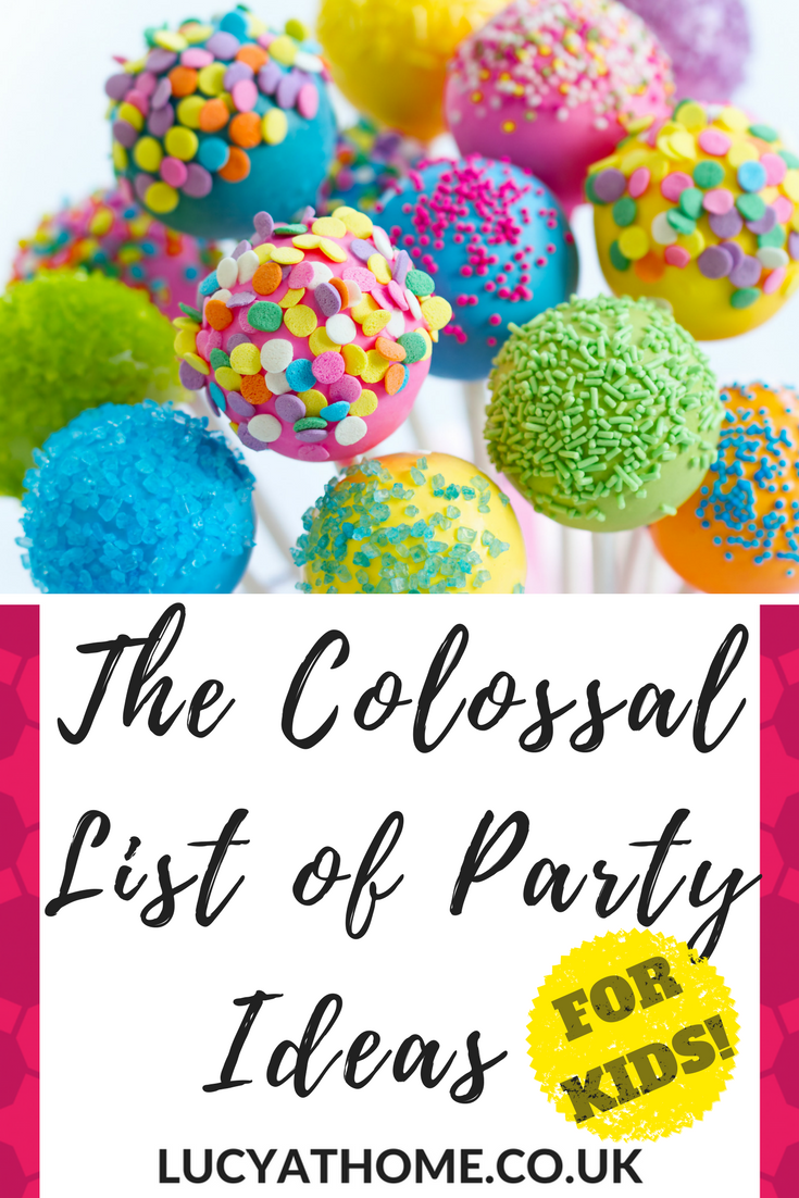 The Colossal List Of Party Ideas for Kids - 57 kids' party activities - whether you're after an unusual party idea or just party packed full of fun, you're sure to find some birthday party inspiration here!