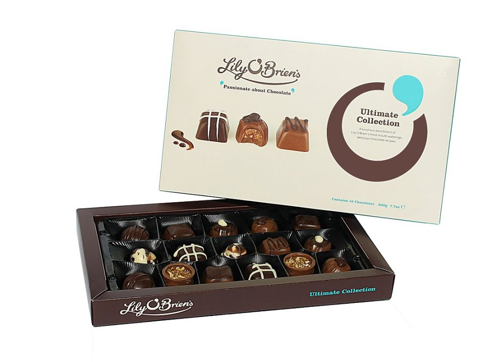 dads to grandads gift guide for Father's Day 2018 - ultimate collection chocolates from Lily O'Brien's