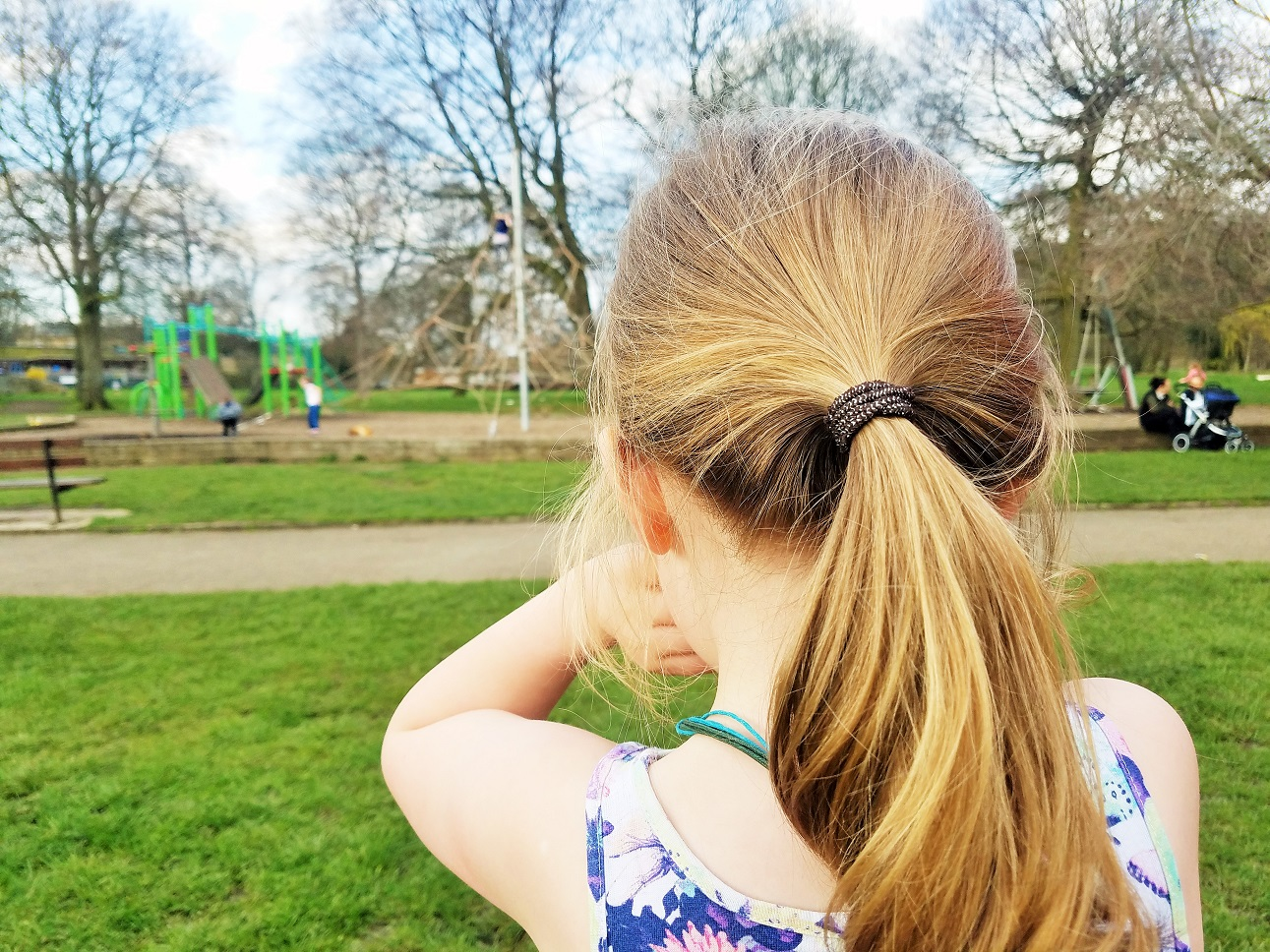 5 things To Do NOW for your future teenage kids - child looking at the playground - BlogCrush Week 64