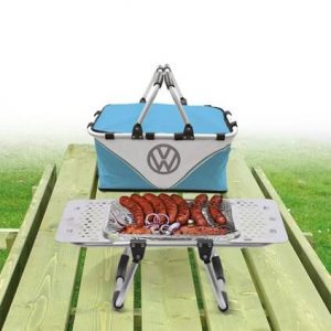 dads to grandads gift guide for Father's Day 2018 - VW barbecue hamper blue. vw merchandise