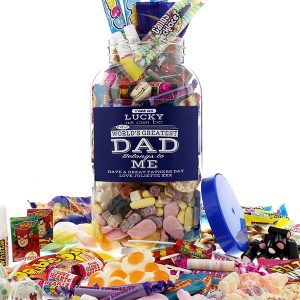 dads to grandads gift guide for Father's Day 2018 - Large Father's Day Sweet Jar from Retro Sweet