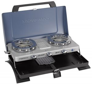 Camping buyer's guide - double burner stove and grill from campingaz coleman