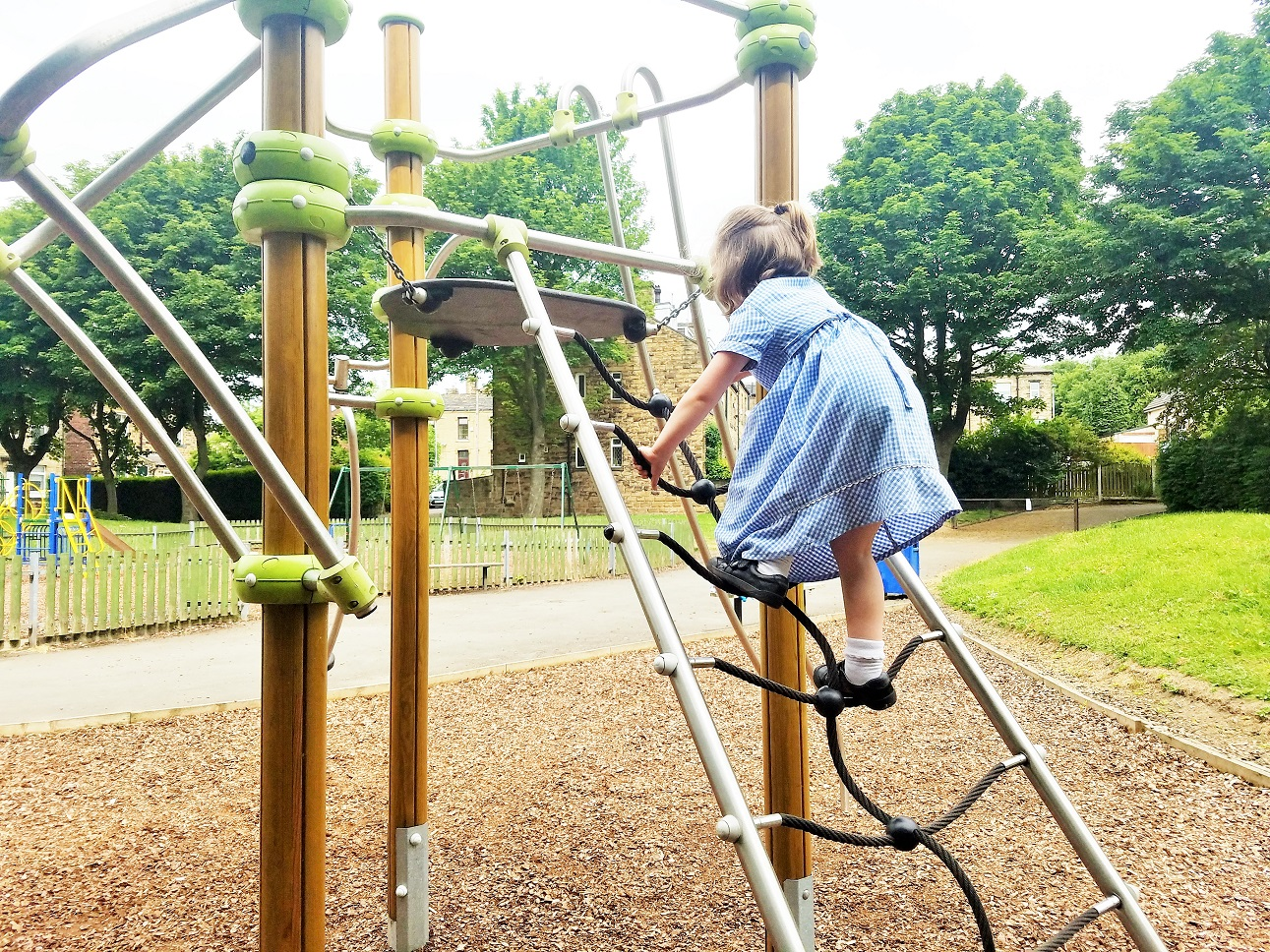 My big gamble and why mums can change the world - child climbing the climbing frame