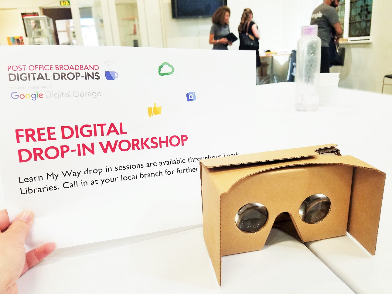 Digital Training - free drop-in workshop poster with Google Cardboard Virtual Reality Headset