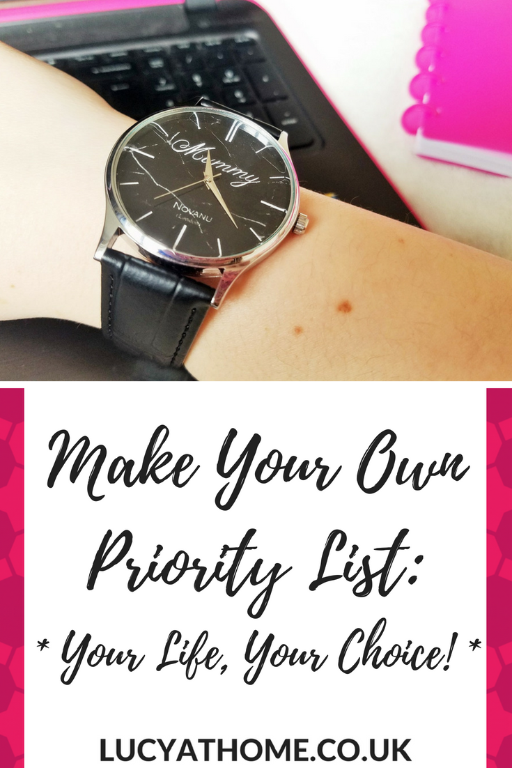 Make Your Own Priority List - your life, your choice - inspirational quotes about life and choices
