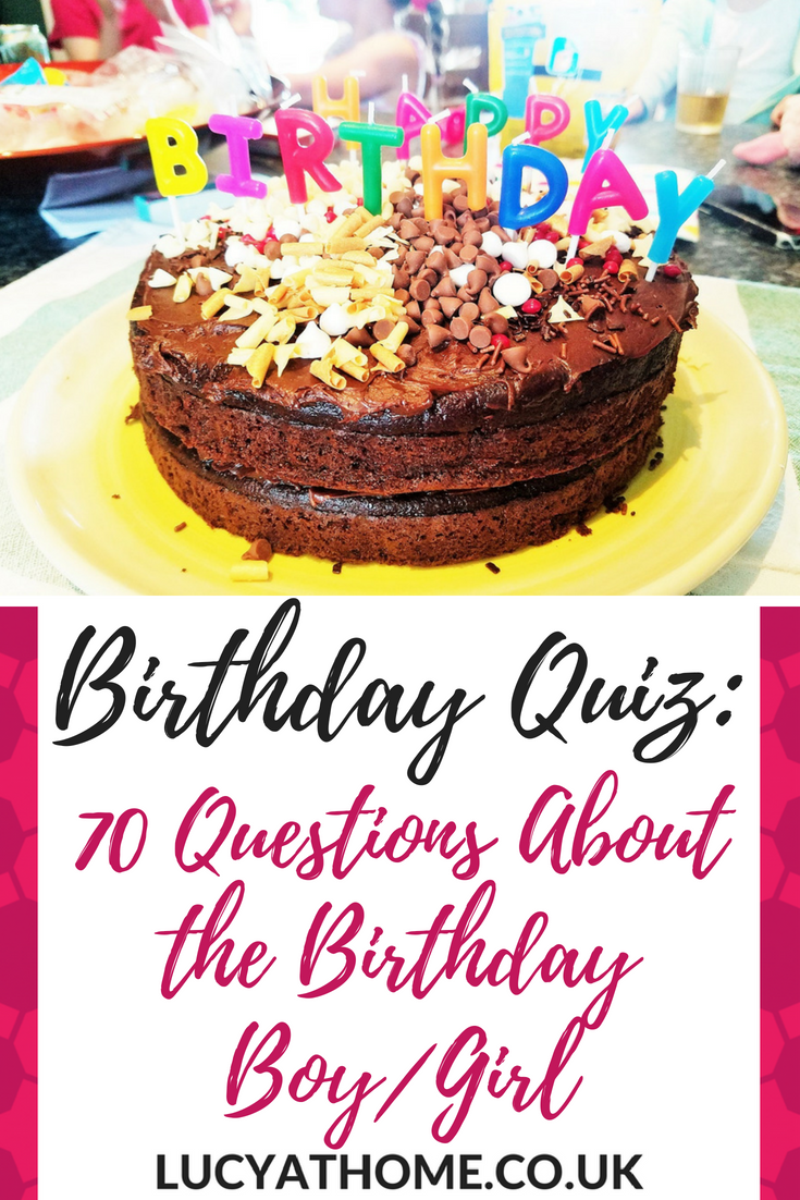 Birthday Quiz - here are 70 birthday quiz questions for some fun birthday party ideas for adults. This is a family friendly quiz with rounds like this or that questions and multiple choice biography questions